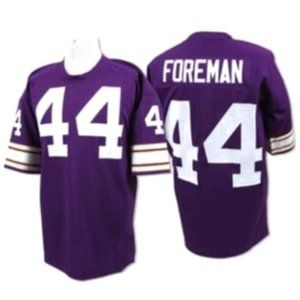 Chuck Foreman Purple Stitched Throwback Jersey